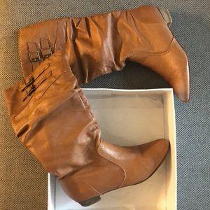 Cognac Steve Madden boots size 9.5